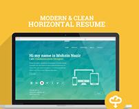 Horizontal E-Resume - Free PSD