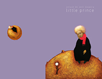 "book cover ""little prince"" - student work"