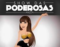 Ilustração Anitta | Show das Poderosas