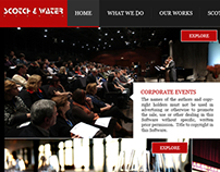"Scotch ""N"" Water - Web Design Horizontal Scrolling"