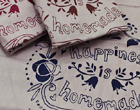 Screen Printed Home Textiles