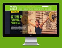 Women's Sports Foundation Website Design