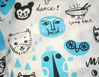 Funny Faces Tote bag