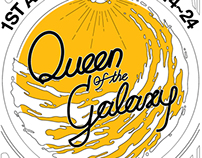 'Queen of the galaxy' Poster Graphic