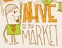 Alive at the Market: Poster Series