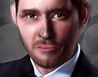 Michael Buble painting