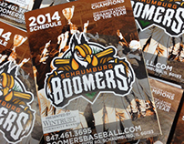 2014 Schaumburg Boomers Pocket Schedule