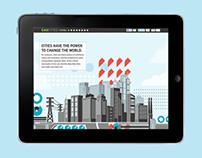 C40 Cities Interactive Infographics