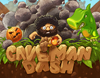 Caveman Dash Game Title screen