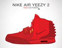 Nike Air Yeezy Poster Design