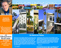 Cool Homes in Palm Springs Website