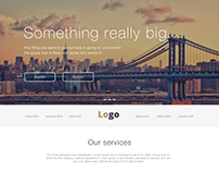 Flat-Design website concept