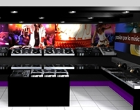 Concept design for music store