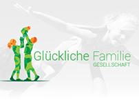 Glückliche Familie Branding