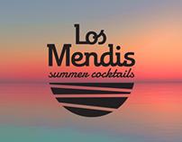 Los Mendis logo y flyer