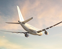 Aircraft Illustrations for stock