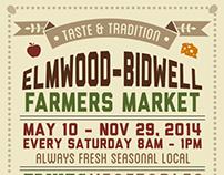 Elmwood-Bidwell Farmers Market Poster