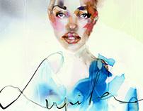 Lupita Nyong'o Portrait in Watercolor