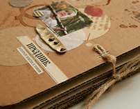 Photo album of cardboard