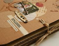Photo album of cardboard