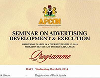 APCON SEMINAR ON ADVERTISING DEVELOPMENT AND EXECUTION