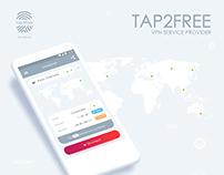 Tap2Free. VPN service UI/UX design.