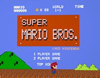 Mario paper model animation
