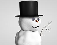 Snowman walking cycle