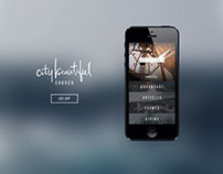 City Beautiful Church App Design