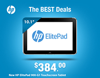 Deal Alert on HP Products! ( Web Banner Design )