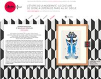 """Exposition """"L'Étoffe de la modernité"""" - Opéra de Paris"""