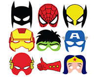 Superheroes masks