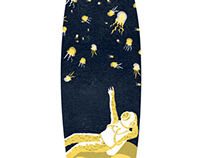 Diving in Space Surf Board