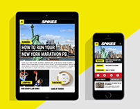 Spikes responsive site design