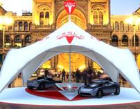 Tesla Tent Showcase