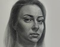 Diana. Realistic portrait drawing