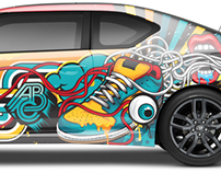 SCION X ABC Car Wrap