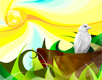 Vector Art - Corvo Branco