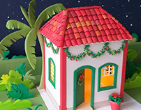 Christmas house - paper craft