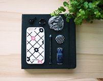 silicone case design for iphone5/5s - floral check