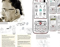 Wireframe and Persona for an app for elderly