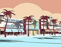 Ocean Drive - Flat 3D