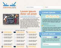 Survival Bite Web Design