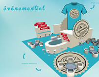 site et événementiel t shirt collector