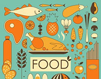 Food and kitchen illustrations