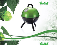 Grolsch product ideas BBQ cooler Bottle shaped lamp