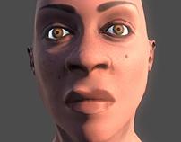 woman head - low poly
