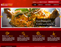 Restaurant Web Design - Biriyani Point