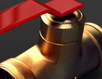 Open the valve