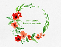 Free Watercolor Flower Wreaths Graphic Pack
